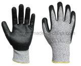 Перчатка промышленной работы при черный покрынный нитрил пены (NDF8032)