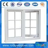 Окно PVC европейского алюминия цвета типа белого сползая с решетками