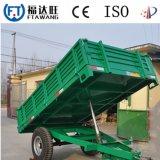 반 PVC 입히는 단 하나 차축 팁 주는 사람 트럭 트레일러 실용적인 쓰레기꾼 트레일러