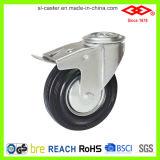 200mm schwarzes industrielles Fußrollen-Gummirad (G102-11D200X50)