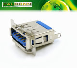 Разъем USB3.0, печатает a на машинке, тип припоя 9 положений, испытание брызга соли: 48 часов минимальных