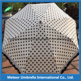 5 Falte Printed Lace Board Small Aluminum Umbrella für Girls