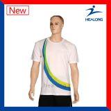 Tous T-shirts bon marché blancs de polo de Mens de chemise de circuit de logo