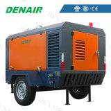 De draagbare Beweegbare Diesel Compressor Met motor van de Lucht voor de Hamer van de Hefboom van de Mijnbouw
