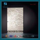 Porta pintada do vidro da tela de seda