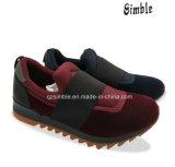 Femmes chauds obtenants neufs et chaussures élastiques occasionnelles de tissu d'homme