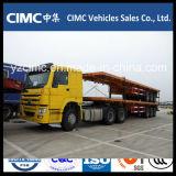 Sinotruk HOWO 4X2のトラクターのトラック、トラクターヘッド、力のトラクターのトラック