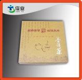Caixa de papel da cor natural para a embalagem do chá