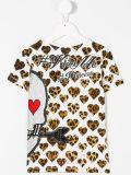Camisa impressa Heart-Shaped de T da menina por atacado da forma