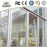 2017 da fibra de vidro barata UPVC do preço da fábrica do baixo custo porta de vidro plástica com grade para dentro para a venda