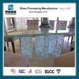 Верхняя часть таблицы льда конструкции Morden Cracked стеклянная для журнального стола