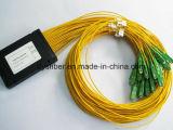 Divisor óptico 1310nm-1550nm de la fibra del PLC del ABS 1*32