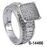 형식 반지 925 순은 마이크로 컴퓨터는 CZ 여자 반지를 포장한다
