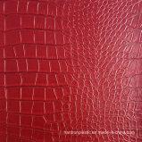 Cuero del PVC del cocodrilo para la carpeta del bolso