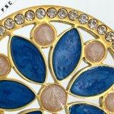 Colgante cristalino redondo del acero inoxidable del pétalo colorido bohemio para las mujeres