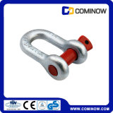 G210 Screw Pin Chain Shackle Us Type Drop Forgé Galvanisé / Dee Shackle / Alloy Chain Shackle