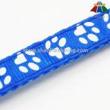 최신 판매 작은 벨을%s 가진 고품질 인쇄된 15mm 조정가능한 폴리에스테 개 목걸이