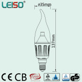 4W viruta del CREE E14 regulable LED lámpara de la vela (LS-B304-CWWD / CWD)