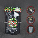 Saco de plástico de pé do alimento de Customzied para o pacote do petisco com Zipper