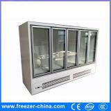 Alcance de vidro vertical da porta do supermercado/loja gabinetes refrigerando/de congelação