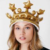 Inflables bordados Corona fiesta de cumpleaños de los niños inflados Herramientas Cosplay Efectúe los apoyos Niños Mejor regalo del partido Suministros favores del partido de Birtday