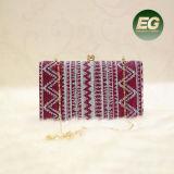 Klassieke Stijl de Beste Verkopende Handtas van Dame Evening Bag Wollen Clutch Beurs met Ketting Eb885