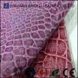Cuoio sintetico di alta qualità con il reticolo serpente/del coccodrillo per il pattino