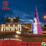 O diodo emissor de luz ilumina acima a luz da árvore de Natal do quadro de aço 12m/6m de Gaint