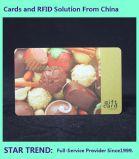 Nahrungsmittelkarte mit magnetischem Streifen für Nahrungsmittelgericht