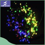 Indicatore luminoso solare della stringa di grande natale decorativo esterno variopinto del LED