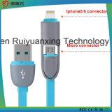 2 em 1 cabo do USB Charing, telefone para telefonar à carga