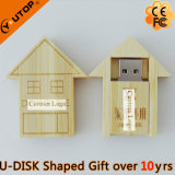 ギフト(YT-8134)のためのかわいい木の家USBのフラッシュ駆動機構