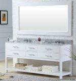 ホワイトオークの古典的な二重洗面器プロジェクトのための多くの引出し