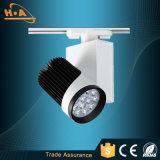 PVC que encajona la iluminación de la pista de la luz 5W de la pista de la aplicación comercial LED