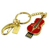 Bulto cristalino del disco del mecanismo impulsor U de la pluma del USB de la guitarra de Keychain barato