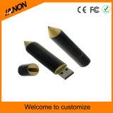 Movimentação de madeira do flash do USB da forma da pena da vara do USB da alta qualidade