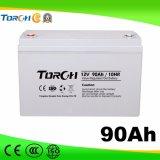tipo bateria solar do gel 90ah de 12V para UPS, central eléctrica, sistema do agregado familiar