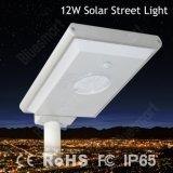 12W tout dans un éclairage LED solaire de jardin de rue avec le détecteur de mouvement de PIR