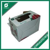 Corrugated коробки коробки печати цвета с ручкой