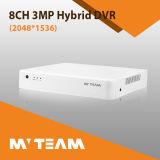 ビデオ監視のハイブリッドDVR 3MP 8チャネルDVRのレコーダー(6708H300)