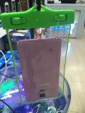 Cubierta impermeable del bolso del teléfono celular de la promoción del PVC del regalo barato de la bolsa con el acollador (WPB-1)