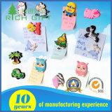 Aimant en caoutchouc populaire fait sur commande promotionnel de réfrigérateur de PVC de l'animal 3D aucun minimum