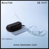 Alta qualidade de óculos de proteção de segurança protetores dos vidros do laser para lasers do CO2 com frame branco 52