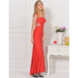 Nuevo vestido de noche elegante de la alta calidad de la parte posterior del cordón