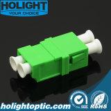Adattatore ottico Lca della fibra a verde monomodale duplex di Lca