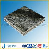 Material de construção de alumínio de pedra de mármore preto do painel do favo de mel