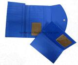 De Riem van het weefsel Pu Dame Large Wallet met de Verwijderbare Houder van de Kaart