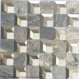2016最新の正方形の大理石の混合されたステンレス鋼のモザイク・タイル(FYSM106)