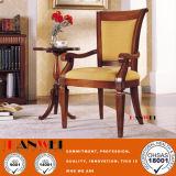 Cena de los muebles de madera de la silla sólida de los apoyabrazos de la silla