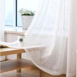 Tela escarpada de la cortina de la gasa sólida de lino del algodón de la alta calidad